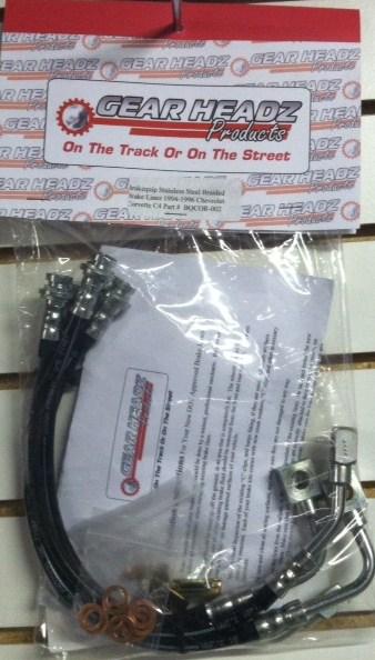 C4 Corvette Brake Lines : Brakequip stainless steel braided brake lines