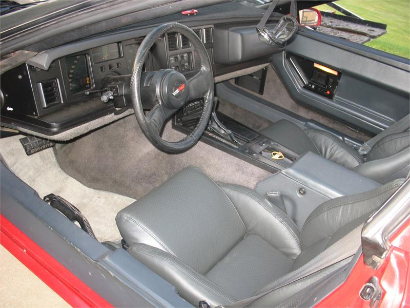 Corvette 1984 Targa Top Red C 4 With 68 000 Miles