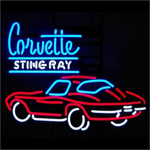 Corvette Stingray Neon Sign on Neon Sign Corvette Sting Ray