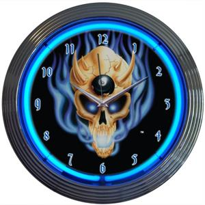 Neon Clock-8 Ball Skull *BSKUL