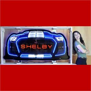 Neon Sign Shelby Grille in Steel Can 9GRLSH