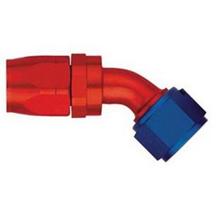 Aeroquip Forty Five Degree Red Blue Aluminum Hose Ends