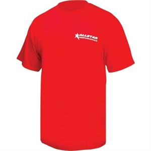 Allstar Performance Racing Tee Shirt-Red ALL99904