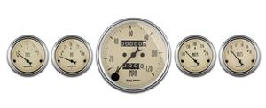 Autometer Antique Beige Gauge Kit 1808