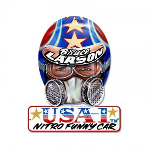 Bruce Larson USA-1 Helmet Wall Sign