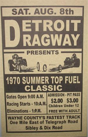Reproduction Poster-Detroit Dragway