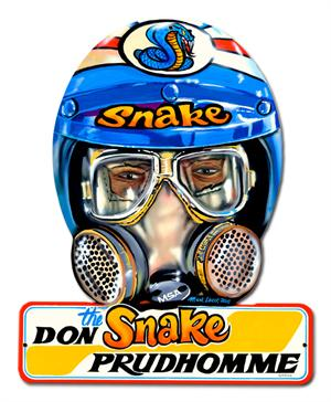 "Helmet Don ""The Snake"" Prudhomme Tin Sign"