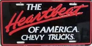 Chevy Truck License Plate