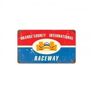 Vintage Look Orange County Raceway Sign