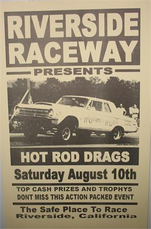 Ford Performance Racing School >> Reproduction Drag Race Event Posters-Riverside Raceway