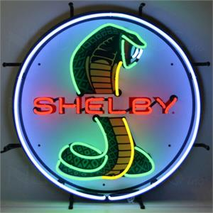 Neon Sign Shelby Cobra Round Sign 5SHLBK
