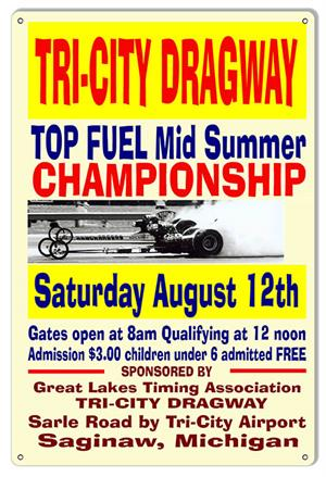 Tri City Dragstrip Sign