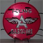 Neon Sign Flying A Gasoline OFF