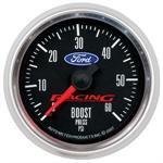 Autometer Ford Racing Blue Oval Logo Boost Gauge