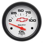 Autometer Chevrolet Bow Tie Oil Pressure Gauge 5827-00406