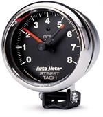 Autometer Z Series Street Tach 3 3/4 Inch Black Face 2895