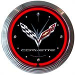 Corvette C7 Neon Wall Clock