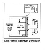 GM Camaro Firebird 1967 To 1969 Axle Flange Diagram