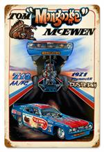 Tom Mongoose Mcewen Blue Funny Car Sign